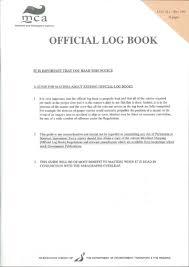 mca official log book 76 pages log 1l rev 0815 76 pages