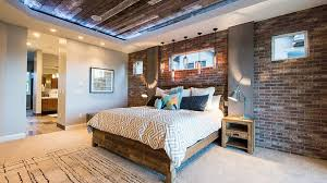 bedroom accent lighting surrounding. bedroom accent lighting surrounding reclaimed wood ceiling and exposed brick walls in the design canyon river homes tochinawestcom