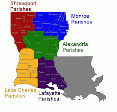 Image result for map of louisiana parishes