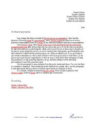 recommendation sample letter of recommendation sample