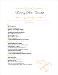 Wedding Photography Checklist Template Wedding Photography Checklist Template Magdalene Project Org