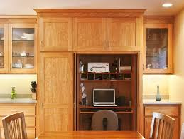 Splashy computer armoire in Home Office Traditional with Office