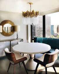 small spaces size of chandelier for round dining table