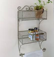 Wall Mounted Kitchen Rack Bowley Jackson Vintage Wire Double Basket Wall Mounted Storage