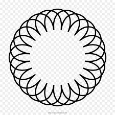 Zeichnungsblume Vektorgrafiken Bild Zentangles Mandala Png Malbuch