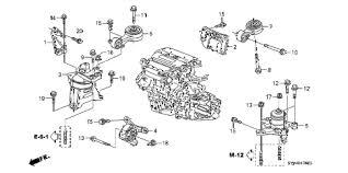 honda online store 2007 civic engine mounts 2 0l mt parts 2007 civic si 2 door 6mt engine mounts 2 0l mt diagram