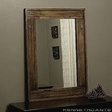 rustic wood framed mirrors. Wood Frames For Bathroom Mirrors Best Of Rustic Framed Ideas A