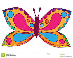Abstract Colorful Butterfly For Coloring Book Tattoo Stock Vector