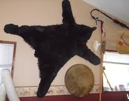 canadian winter fur black bear