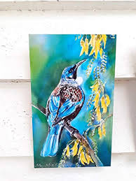 new zealand tui bird outdoor wall art tile from my original silk painting outside on outdoor wall art new zealand with amazon new zealand tui bird outdoor wall art tile from my