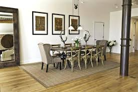 jute rug dining room under table o tables design