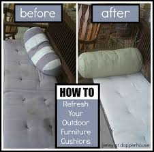 to refresh your outdoor cushions with