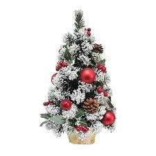 Mini Christmas Tree With Lights And Decorations Decorated Artificial Mini Christmas Tree Red Apples 60cm Tall Green Pine Indoor