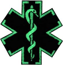 EmbTao Glow in Dark ACU EMS EMT Medic Paramedic Star of Life Morale  Tactical Embroidered Applique Iron On/Sew On Patch - Black & White: Arts,  Crafts & Sewing - Amazon.com