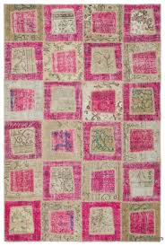 pink beige over dyed turkish patchwork rug 5 3 x 7 11 63 in x 95 in