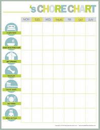 10 Cool Printable Chore Charts Printables Diy Chore