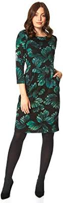 Roman Originals <b>Women Floral Print</b> Ponte Dress - Ladies <b>Autumn</b> ...