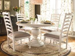 kitchen pedestal dining table set: white distressed pedestal table and chairs pedestal tables for intended for white pedestal dining table set kitchen