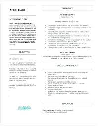 Accounts Clerk Resume Accounting Assistant Resume Free Accounting Clerk Resume Templates