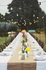 outdoor party lighting hire. lily and bramwell beautiful festoon lights for an outdoor rustic wedding party lighting hire
