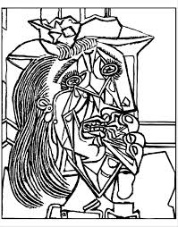 Small Picture Free coloring page coloring adult from picasso weeping woman 1937