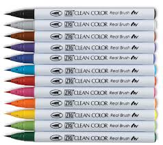Zig Clean Color Real Brush Pens And Sets