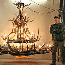 metal antler chandelier extra large elk antler chandelier mt 2 tier sq home improvement loans
