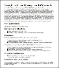 Strength And Conditioning Coach Cv Sample Myperfectcv