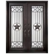 iron doors unlimited 62 in x 97 5 in texas star classic full lite painted