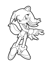 Coloring Pages Free Printable Sonic The Hedgehog Blaze Stunning