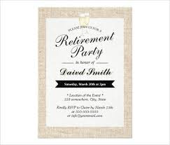 Retirement Invitations Free 36 Retirement Party Invitation Templates Free Download