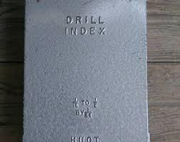 huot drill index. vintage huot drill index 1/16\