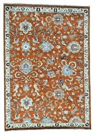 hand knotted rust wool hunting design rug traditional area rugs by get a dog lodge duck