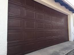 40 panel double steel sectional garage door brown