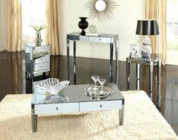 smoked mirrored furniture. Mirrored Accent Tables Coffee Smoked Table Sets For Living Room Furniture Ideas Round