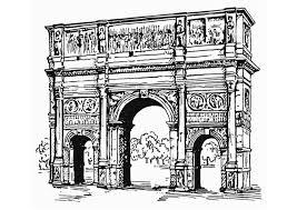 Kleurplaat Boog Van Constantijn Rome Afb 13220 Images