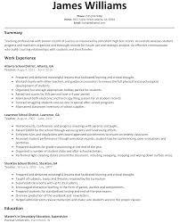 teacher resume sample com