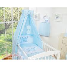 baby boy little prince bedding set with canopy holder