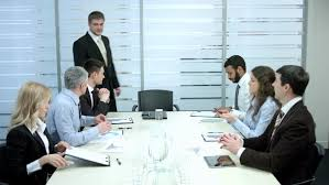 The office the meeting Michael Scott Office Life Clerks Expect The Boss In The Office Meeting With The Chief In The Meeting Room Shutterstock Office Life Clerks Expect The Stock Footage Video 100 Royalty