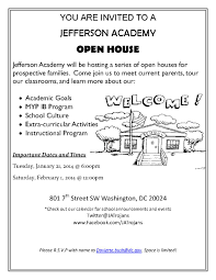 Jefferson Academy Middle School Open Houses Jan 21 And Feb 1