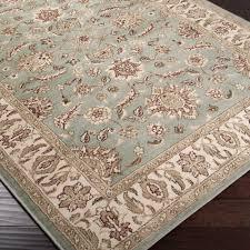 seafoam green area rug. Seafoam Border Lily Pad Green Area Rug (2\u0026#x27; G