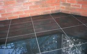 absolute black floor tile