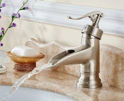 brushed nickel orb bronze waterfall bathroom faucet basin mixer tap with regard to waterfall bathroom faucet