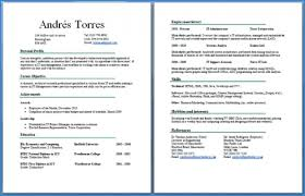 Examples Of 2 Page Resumes Best 48 Page Resume Format Algomais