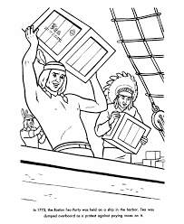 Small Picture FREE COLORING PAGE BOSTON TEA PARTY Coloring Home