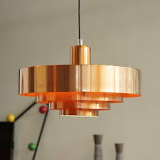 mid century lighting. lights out with fog u0026 morup solid spun copper u0027rouletu0027 pendant designed by jo hammerborg find this pin and more on mid century lighting