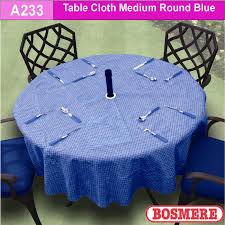 table cloth with parasol hole in the centre to fit 4 seater round table will fit 1m to 1 2m diameter tables