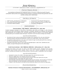 Financial Representative Sample Resume Watershed Manager Sample