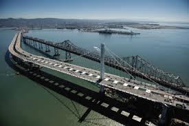 The new San Francisco-Oakland Bay Bridge, the world's largest  self-anchored suspension bridge. Photo: @2013 Barrie Rokeach.