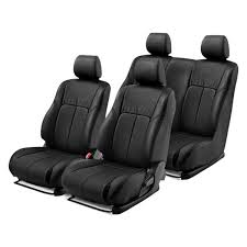 1st 2nd rows black leather seat covers